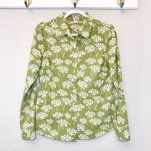 Boden pop art dandelion button down career top